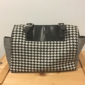 Ralph Lauren Handbag - Black and white houndstooth